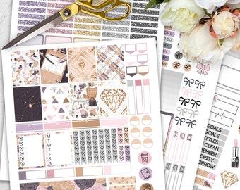 Printable Planner Stickers Girl Boss, Planner Girl Weekly Stickers Kit, Home Office Planner Stickers, Vertical Planner Stickers, Sticker Kit