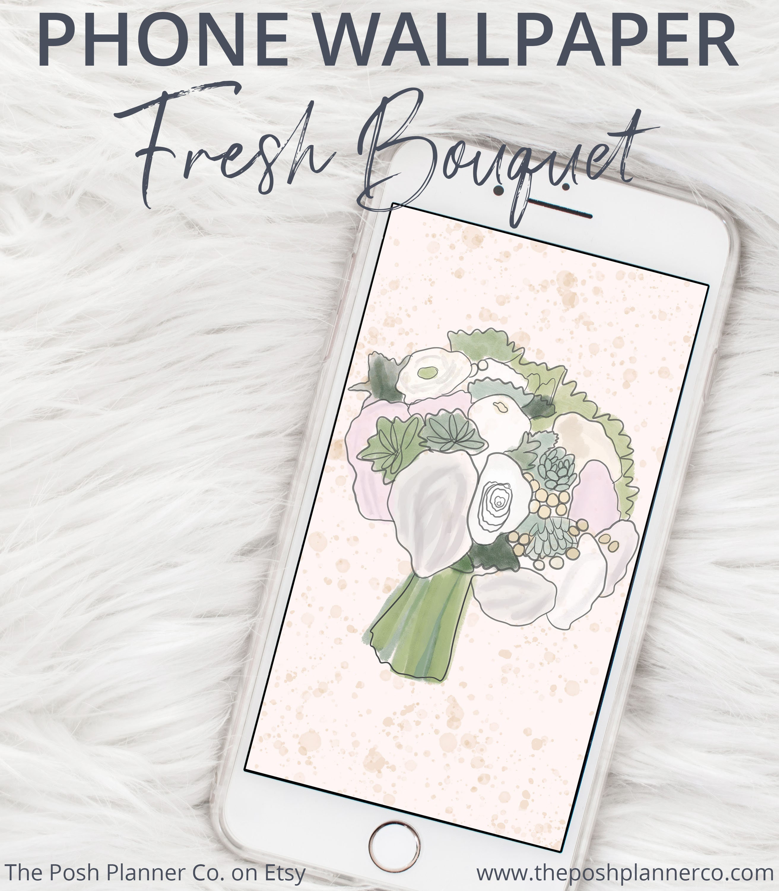 Floral Phone Wallpaper Iphone Wallpaper Bouquet Cell Phone Etsy