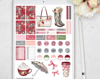 Digital Stickers, Digital Planner Stickers, Autumn Fall Stickers, Goodnotes Stickers, Printable Stickers, Digital iPad Planner Stickers