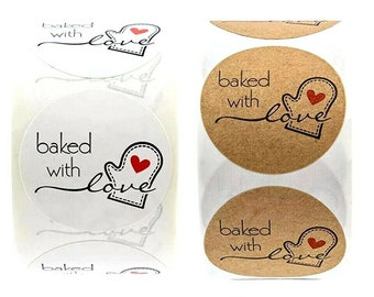 Baked With Love Custom Food Gift Sticker Labels Personalized Baking Gift Sticker Labels D395 From The Kitchen Of Stickers