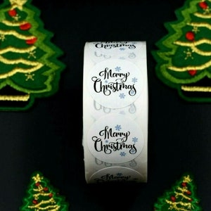 500 Merry Christmas Happy Xmas Thank You Santa Stickers Gift Craft Box Sticker