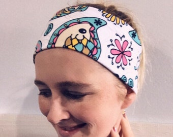 Hedgehog Yoga headband, yoga headband, stretch headband, hedgehog headband, wide headband, no slip headband, sunshineandlace headband
