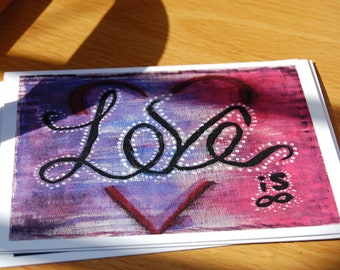 Love Is Flat Note Card