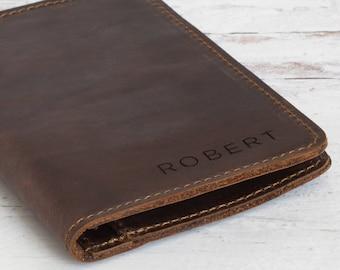 Genuine Crazy Horse Leather Passport Cover, Custom Passport Holder, Passport Wallet, Leather Passport, Passport Case, Passport Wallet
