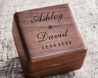 Custom Wedding Ring Box, Wood Ring Box, Engagement Ring Box, Ring Bearer Ring Box, Ring Box Holder, Proposal Ring Box, Wedding Ring Box