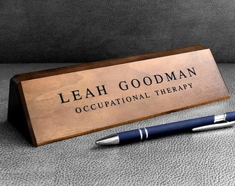 Desk Name Plate Etsy