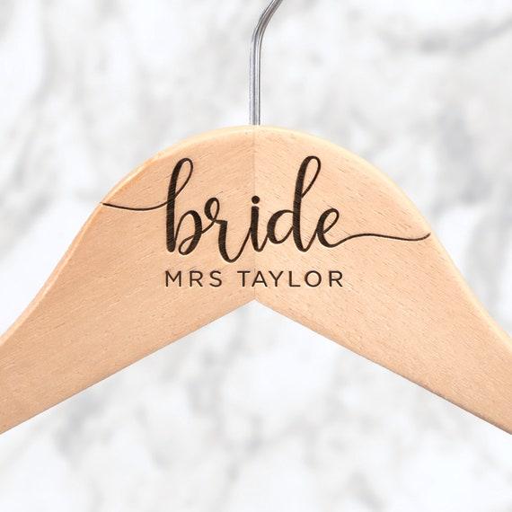 Bridal Gown Hanger Mrs Name Hanger Custom Hanger Bridal   Etsy