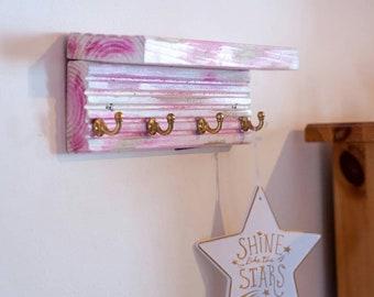 Handmade Wooden Wall Towel Holder