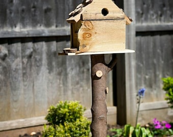 Hand Made standing bird house