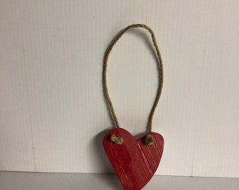 Small hanging wooden heart