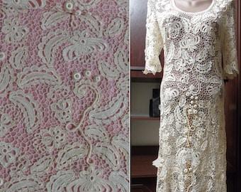 Crochet Motif Celtic Wedding Dress