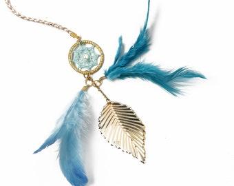 Blue dream catcher bookmark