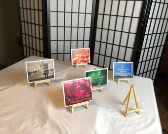 Easel to hold your affirmation cards!