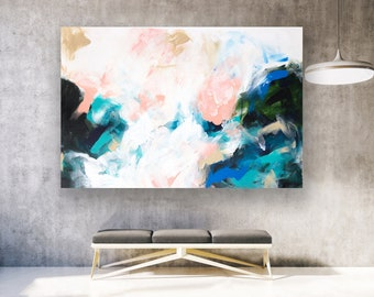 Large Original Abstract Painting On Canvas, Contemporary Wall Art, Extra  Large Wall Art,Abstract On Canvas,Original Paintings, Modern LA0186