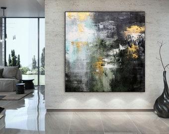 Extra Large Wall Art Modern Abstract Art - Original Acrylic Painting On Canvas, Original acrylic Painting on canvas, Office Wall Art DMS088
