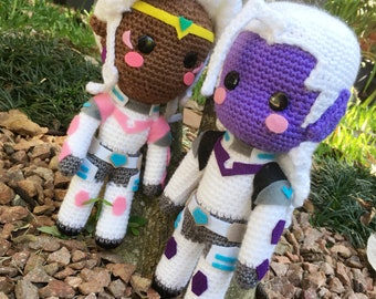 Voltron inspired amigurumi softie - Lotor in armour