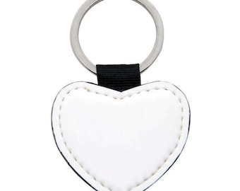 Heart PU Keyring