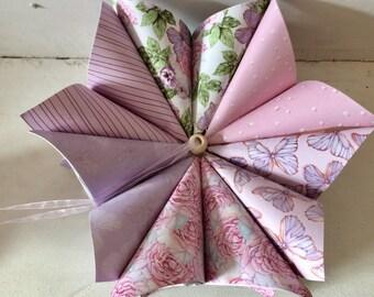 Hanging origami flowers mightylinksfo