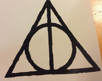 Window Decal-Deathly Hallows