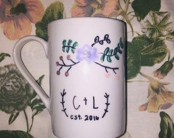 Hand painted mugs- 4