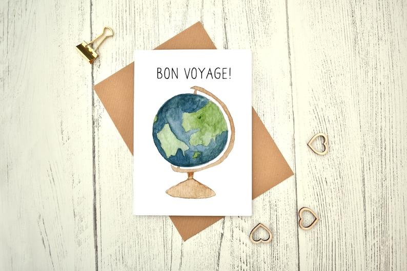 Leaving Work Job Bon Voyage Travel Goodbye Good Luck Large Card Funny Humour