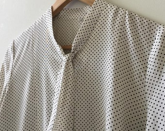 Vintage spotted bow tie button down