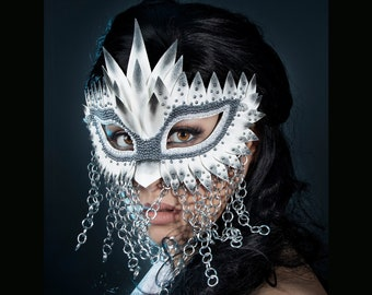 Snow Bird Chainmail Unisex Mask, Masquerade Mask, Masquerade Masks Women,  Bird Mask, Mardi Gras Masks, Fetish Mask - READY TO SHIP