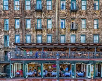 Breakfast at Huey's on River Street, Savannah, Georgia
