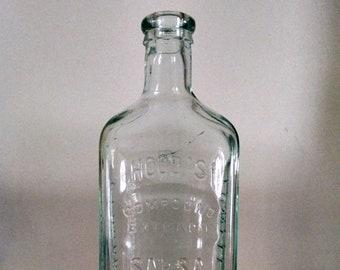 0e900ededb5b Antique Hood s Sarsa Parilla Medicine Bottle Compound Extract embossed  1878-1922