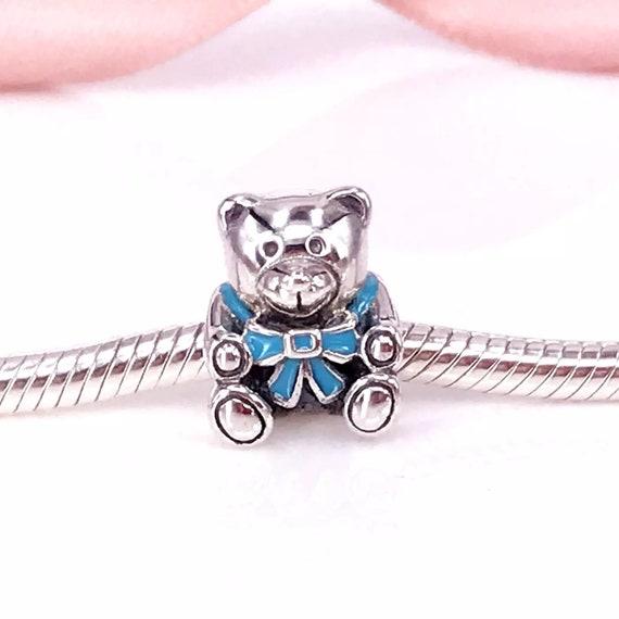 AUTHENTIC Sterling Silver SS 925 It/'s Boy Blue Teddy Bear Charm