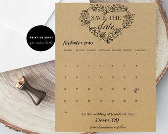 Diy save the date etsy rustic heart save the date calendar diy save the date wedding template save the date rustic save the date calendar bride save the date junglespirit Gallery