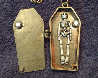 Skeleton in Coffin Necklace