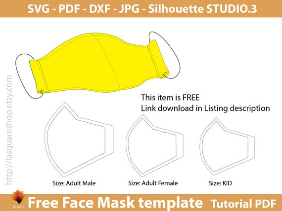 Free Face Mask Templates Svg Face Mask Face Mask Printable Etsy