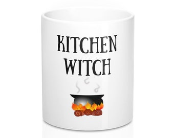 Kitchen Witch Cauldron Mugs Witchy Mug Gift For Chefs Pagans And Wiccans