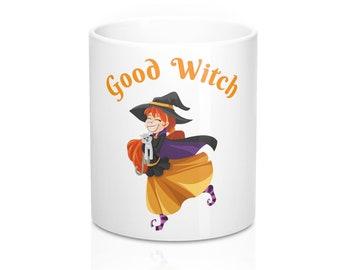 Cute Good Witch Mug Halloween Magic Coffee Mug 11Oz for White Witches