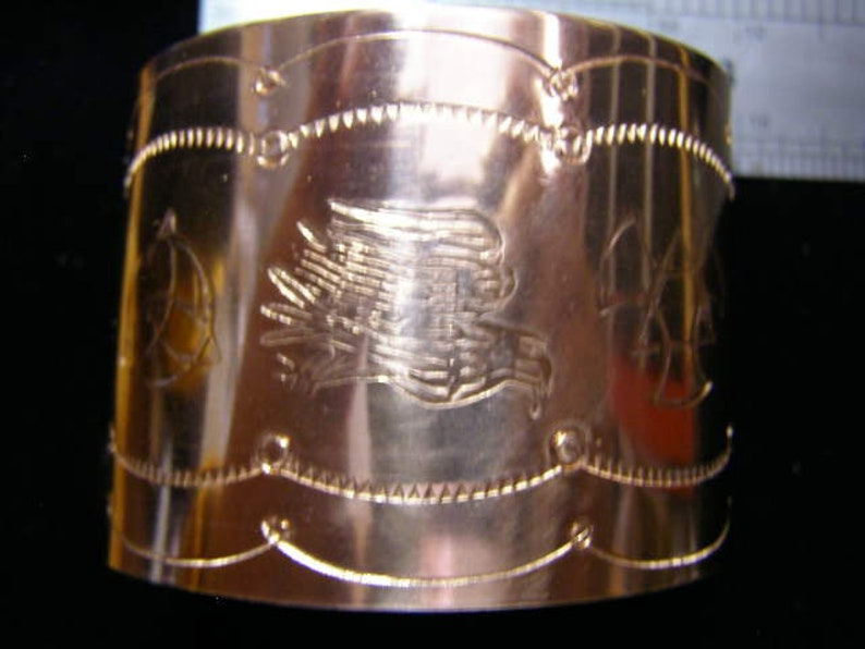 Celtic /& Norse Styled Hand Crafted Solid Copper Bracelet with Hand Stampings #BRACELET 008
