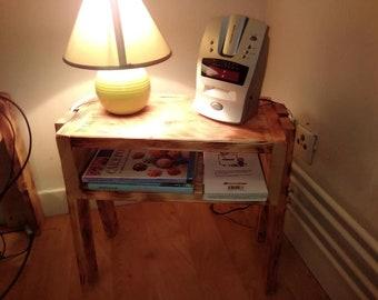 varnished 2 nightstands in pallet Board