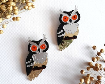 Owl Brooch Owl Jewelry Acrylic Brooch Animal Jewelry Bird Brooch Handmade Acrylic Jewellery Plexiglas Trendy Accessories Mother's day