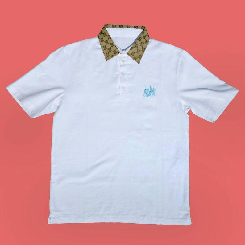 2fae96f56 Short sleeved polo shirt with og Gucci custom | Etsy