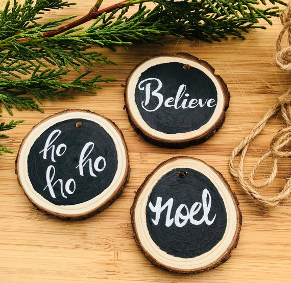 Wooden Peace Xmas Tree Decoration Baubles SET OF 5 6 Scandi Natural 1st CLASS