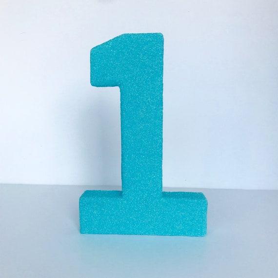 Blue Wooden Alphabet Number Decoration Letters Photography Props Decor M