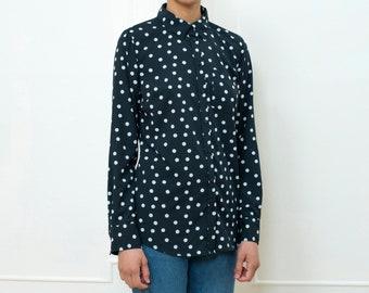 4a0d1efe785fe black polka dot shirt