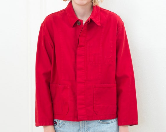 70s red chore jacket