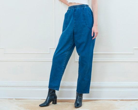 80s elastic waist jeans 28 x 29 | size 14 high wai
