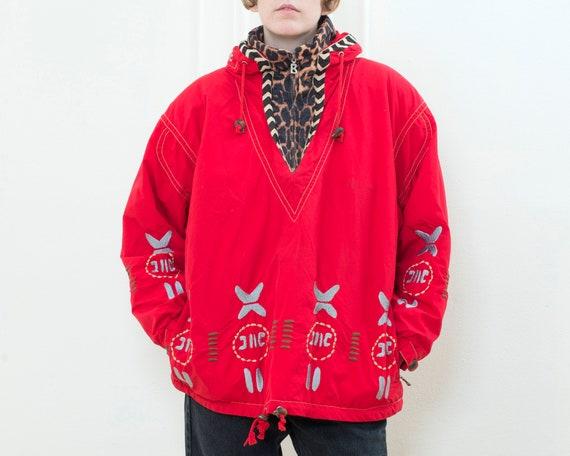 80s red leopard bogner ski parka jacket