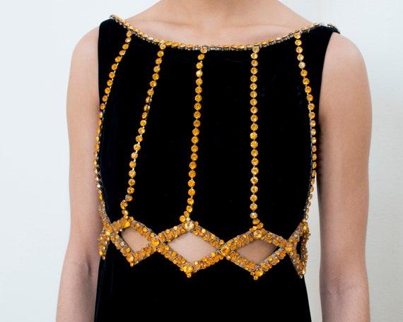 70s black velvet maxi dress small | bohemian maxi… - image 2