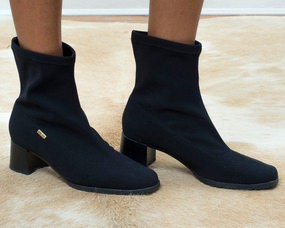 90s black ankle boots