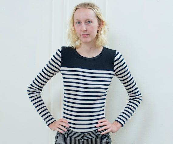 navy striped shirt   90s long sleeve striped t shi