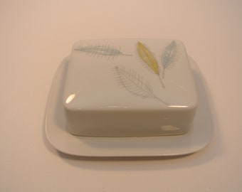 Rosenthal - covered butter dish - bunte bladder pattern