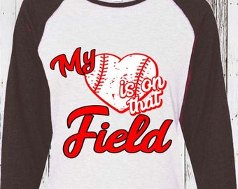 Baseball Mom svg, My Heart is on that Field Svg, Softball, Baseball Life Svg, Mom Svg iron on design, Sports Svg, Baseball Svg Dxf Png Jpeg